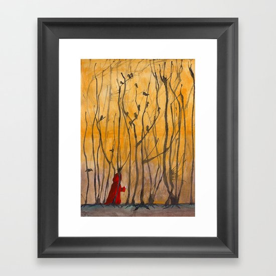 Little Red Framed Art Print
