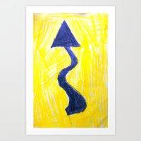 Wiggly Road Art Print