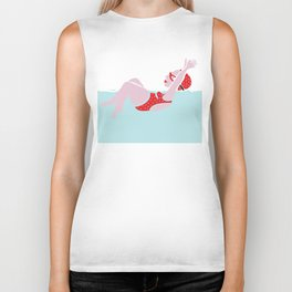 The swim series Biker Tank