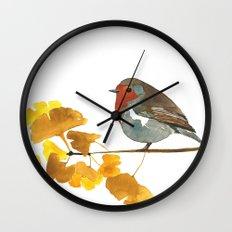 Enlightenment English Robin Watercolor Wall Clock