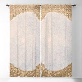 Avalon - Minimal Abstract Golden Moon Blackout Curtain