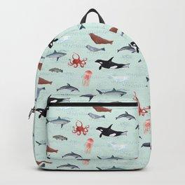 Ocean Life - Light Blue Backpack