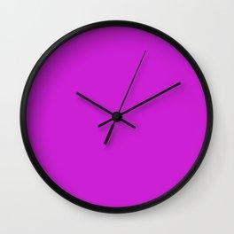 Dazzling Violet Wall Clock