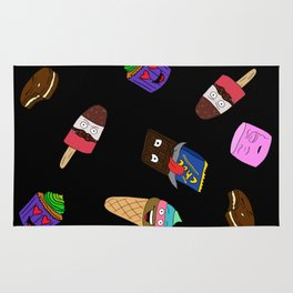 Food with faces Rug