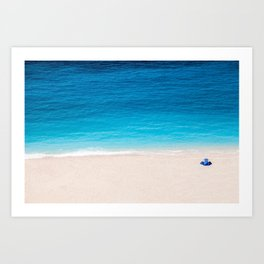 Alone On The Beach Art Print