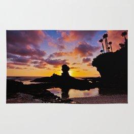 Sunset Laguna Beach, California   11/15/14 Rug
