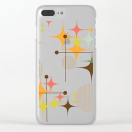 Mid Century Modern Starbursts and Globes 3 Clear iPhone Case