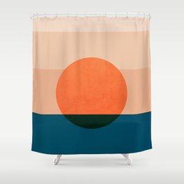 Abstraction_Sunset_Ocean Shower Curtain