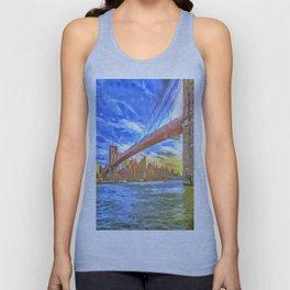 Brooklyn Bridge New York Pop Art Unisex Tank Top