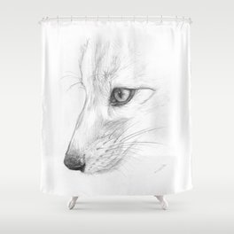 Sketchy Fox Face Study Shower Curtain