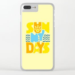 Sunny Days 2 Clear iPhone Case