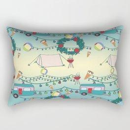 Kiwi Christmas Rectangular Pillow