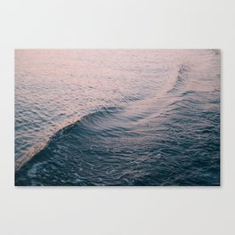 Pink Sunset Waves Canvas Print