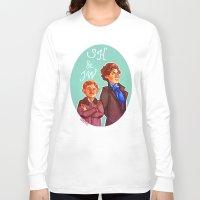 johnlock Long Sleeve T-shirts featuring Sherlock and John by Hattie Hedgehog