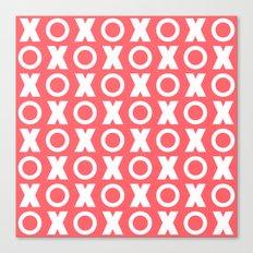 XOXO Coral Canvas Print