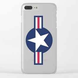 USAF symbol Clear iPhone Case