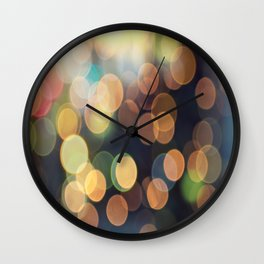 Festive bokeh Wall Clock