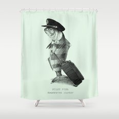 The Pilot (colour option) Shower Curtain