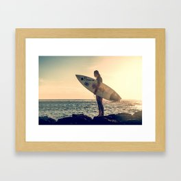 Surfer Girl - Hawaii  Framed Art Print