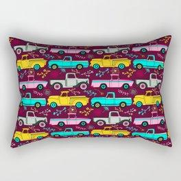Floral Vintage Trucks Rectangular Pillow