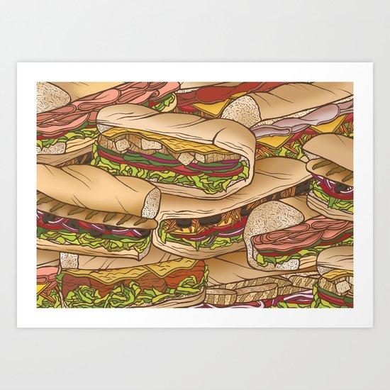 Subs Art Print