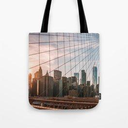 Sunset Brooklyn Bridge Tote Bag