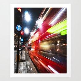 quick bus in london Art Print