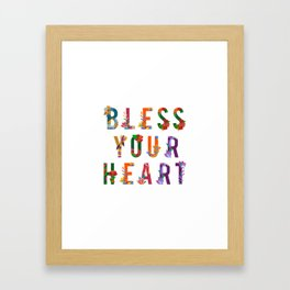 Bless Your Heart Meaning Southern Insult Humor Framed Art Print