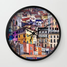 City Structures Collage Wall Clock