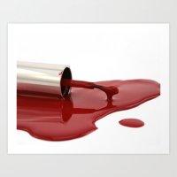 nail polish Art Prints featuring nail polish by Sissy Kreka