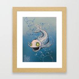 Silvery Fishy Framed Art Print