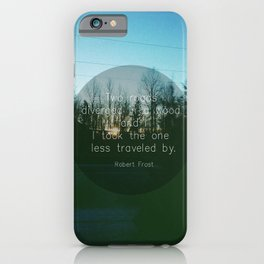 Two Roads (Text Version) iPhone Case