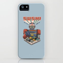 Super Sushi Robot iPhone Case