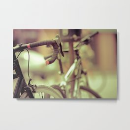 Chasing the sunset on a warm summer evening  Metal Print