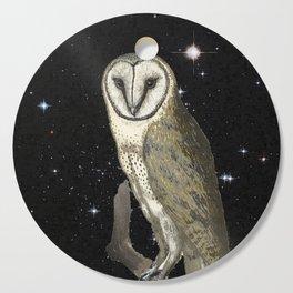 Owl in the Universe Cutting Board