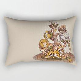 Cat Tree Rectangular Pillow