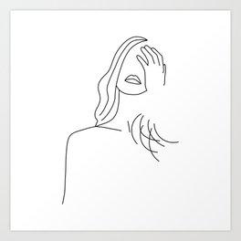 Posing girl Art Print