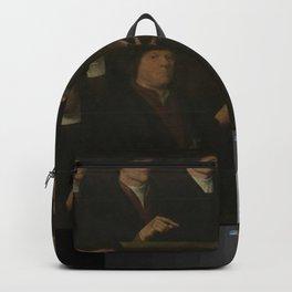 Dirck Jacobsz - Triptych with guardsmen of the Amsterdam Kloveniersdoelen (headquarters of the arque Backpack