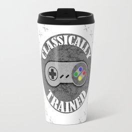 Classically Trained Retro 4 Button Video Game Shirt Travel Mug