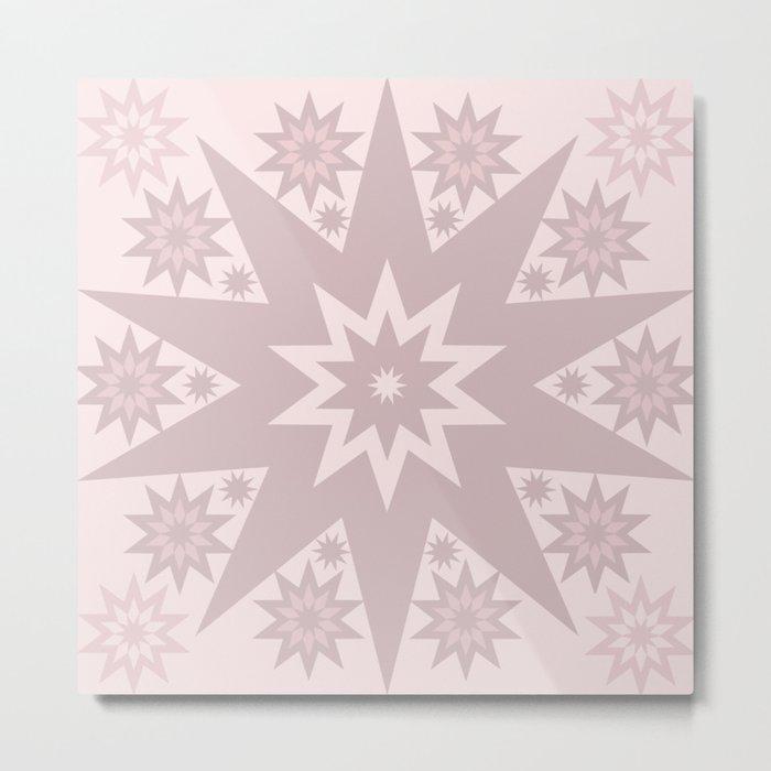 Rose Pink Star Metal Print
