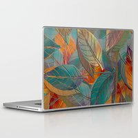 andreas preis Laptop & iPad Skins featuring Autumn Pattern by Klara Acel