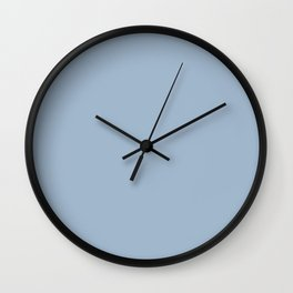 LULWORTH BLUE pastel solid color Wall Clock