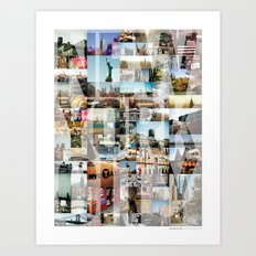 NEW YORK CITY MONTAGE Art Print