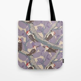Woodpeckers & Bauhinia Tote Bag