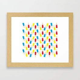 Icicles Framed Art Print