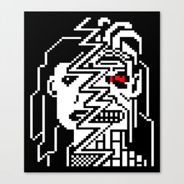 Teletext Monster Girl Canvas Print