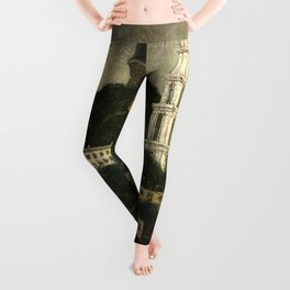 College Hill, Downcity Providence, Rhode Island by Edward Middleton Manigault Leggings