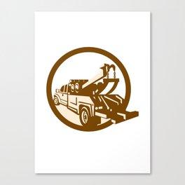 Tow Truck Wrecker Rear Retro Canvas Print