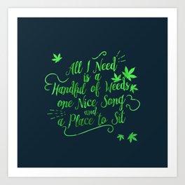 Weed-poetry Art Print