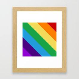 Rainbow flag Framed Art Print